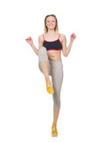 Young female doing exercises Royalty Free Stock Image