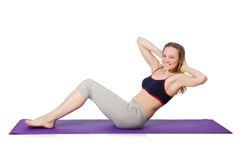 Young female doing exercises Stock Image