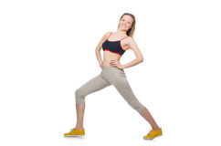 Young female doing exercises Royalty Free Stock Photography