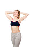 Young female doing exercises Royalty Free Stock Photos