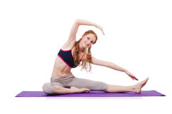 Young female doing exercises Stock Photography