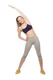 Young female doing exercises Stock Photo