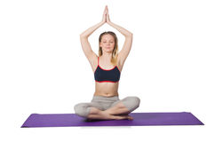 Young female doing exercises Royalty Free Stock Images