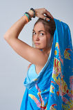 Young female dressed in sari Royalty Free Stock Photography