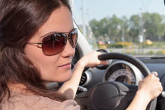 Young female driver Stock Photography