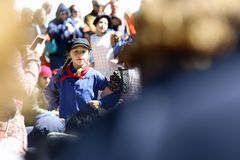Holland, Michigan, USA, May 2017: Dutch Dancing on the streets of Holland Michigan during Tulip Time.