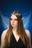 Beautiful young teenage girl with  elf ears and  fairy wings Stock Photos