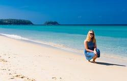 Young female enjoying sunny day Royalty Free Stock Photo