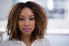 Young female executive in the office royalty free stock photography
