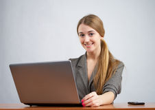 Young female executive working on Stock Photos