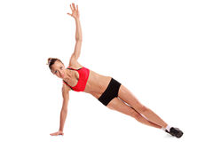 A young female exercising Stock Photo