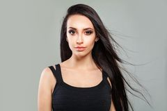 Young Female Face. Perfect Woman Fashion Model royalty free stock image