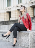 Young Female Fashion Blogger Stock Images