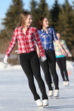 Young Female Figureskaters Royalty Free Stock Image