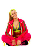 Young female fitness instructor Stock Photo