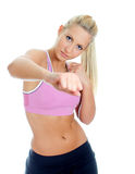 Young female fitness trainer Stock Photography
