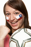 Young Female Football Fan Stock Image