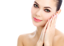 Young female with fresh clear skin Stock Photos