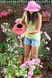 Young female gardening Royalty Free Stock Image