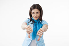 Young female gesturing Royalty Free Stock Photos