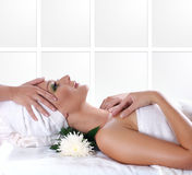 A young female is getting spa treatment Royalty Free Stock Photography