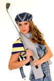 Young female golfer Stock Photos