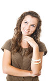 Young female have an idea Stock Images
