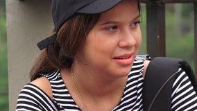 Young Female Hispanic Student stock video