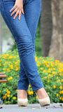 Female Legs And High Heels Royalty Free Stock Photo