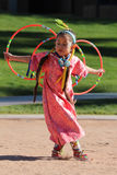 Young Female Hoop Dancer. A young Indian hoop dancer at the Heard Museum of Native Cultures and Art, located in Phoenix, Arizona, USA. The Heard hosts the annual Royalty Free Stock Photography