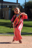 Young Female Hoop Dancer Royalty Free Stock Images