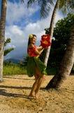 Young female Hula dancer
