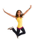 Young female jumping Stock Photo