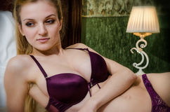 Young female in lingerie Royalty Free Stock Images