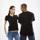 Young female with male. Royalty Free Stock Photo