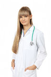 Young female medical student Stock Images