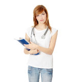 Young female medicine student Royalty Free Stock Photos