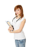 Young female medicine student Stock Photo