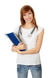 Young female medicine student Royalty Free Stock Images