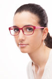 Young female model wearing fashion glasses Royalty Free Stock Photo