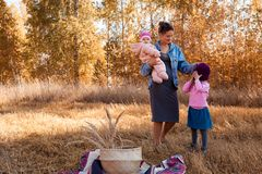 A young female mother royalty free stock image