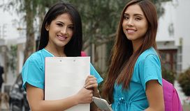 Young Female Nurses Or Medical Students Royalty Free Stock Photo
