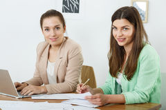 Young female office workers Stock Image