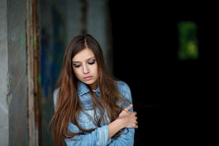 Young female outdoors Royalty Free Stock Images