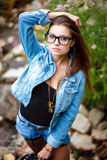 Young female outdoors Stock Photography