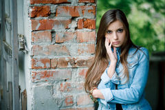 Young female outdoors Royalty Free Stock Photos