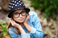 Young female outdoors Royalty Free Stock Image