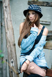 Young female outdoors Royalty Free Stock Photo