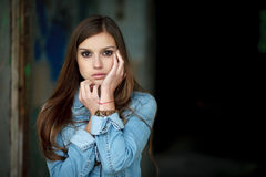 Young female outdoors Royalty Free Stock Photography