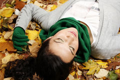 Young female in the park Royalty Free Stock Photo